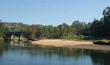 Playa fluvial del Rio Lérez